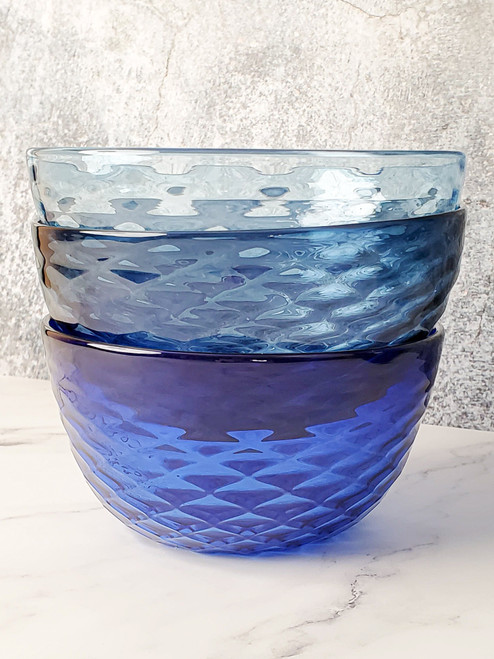 Blueberry Diamond Cut Bowl