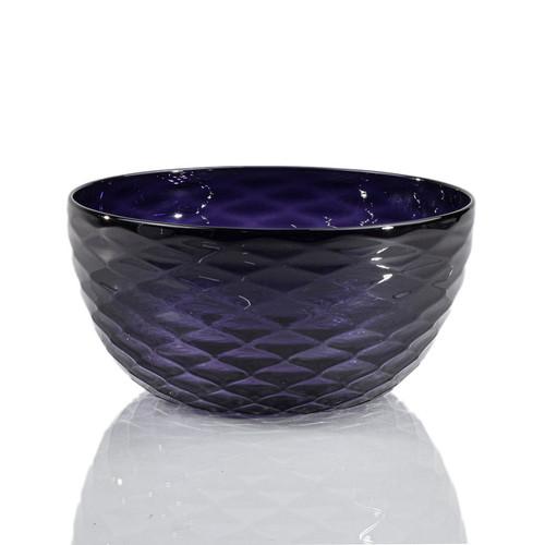 Indigo Diamond Cut Bowl