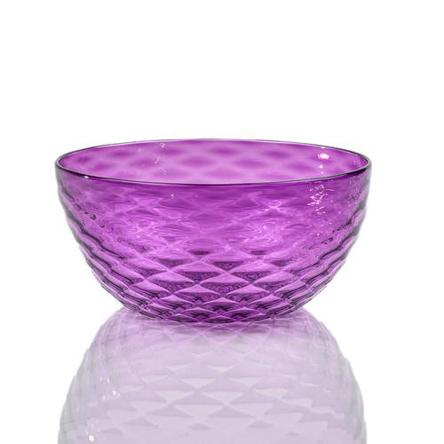 Lavender Diamond Cut Bowl