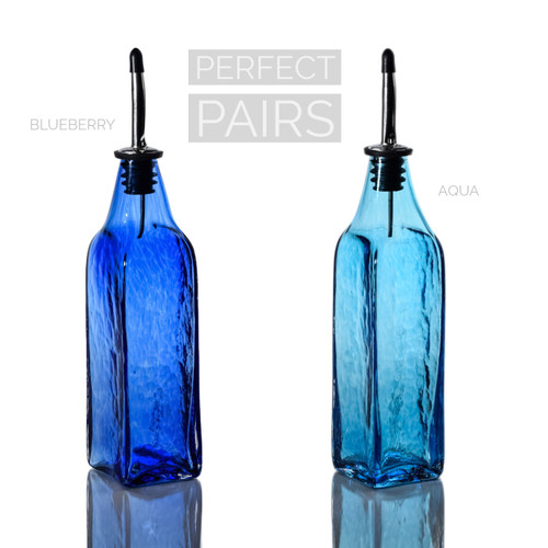 Blueberry & Aqua Single-Tone Bottle Set