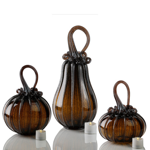 Glittering Gourds -- Signature Set with Tealights