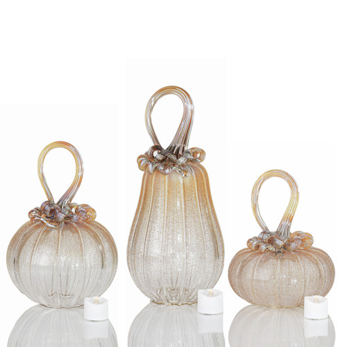 Golden Heroine -- Velvet Glass Set with Tealights
