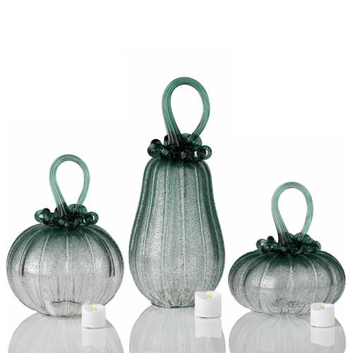 Deep Forest Fog -- Velvet Glass Set with Tealights