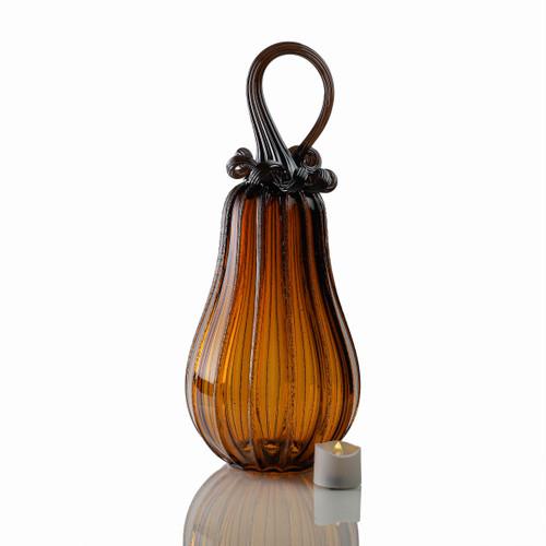 Amber Magic - Signature Gourd Pumpkin with Tealight