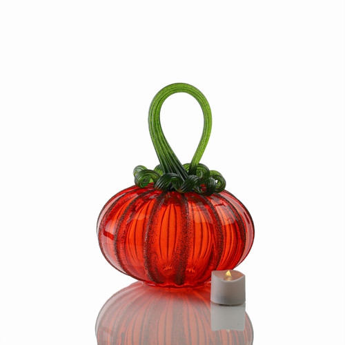Bright Harvest - Signature Squatty Pumpkin with Tealight