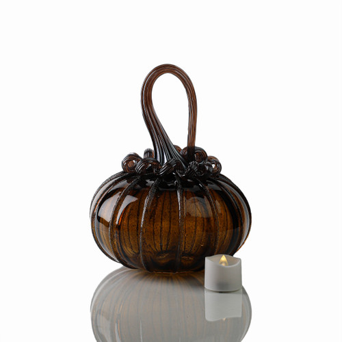 Glittering Gourds - Signature Squatty Pumpkin with Tealight