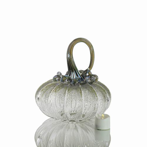 Bewitched Botanicals - Velvet Glass Squatty Pumpkin with Tealight