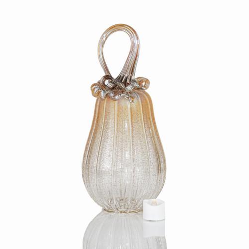 Golden Heroine - Velvet Glass Gourd Pumpkin with Tealight