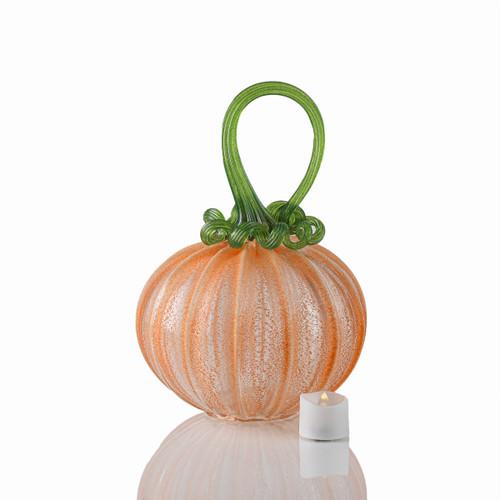 OG Pumpkin - Velvet Glass Round Pumpkin with Tealight