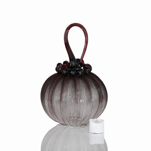 Vampire Dreams - Velvet Glass Round Pumpkin with Tealight