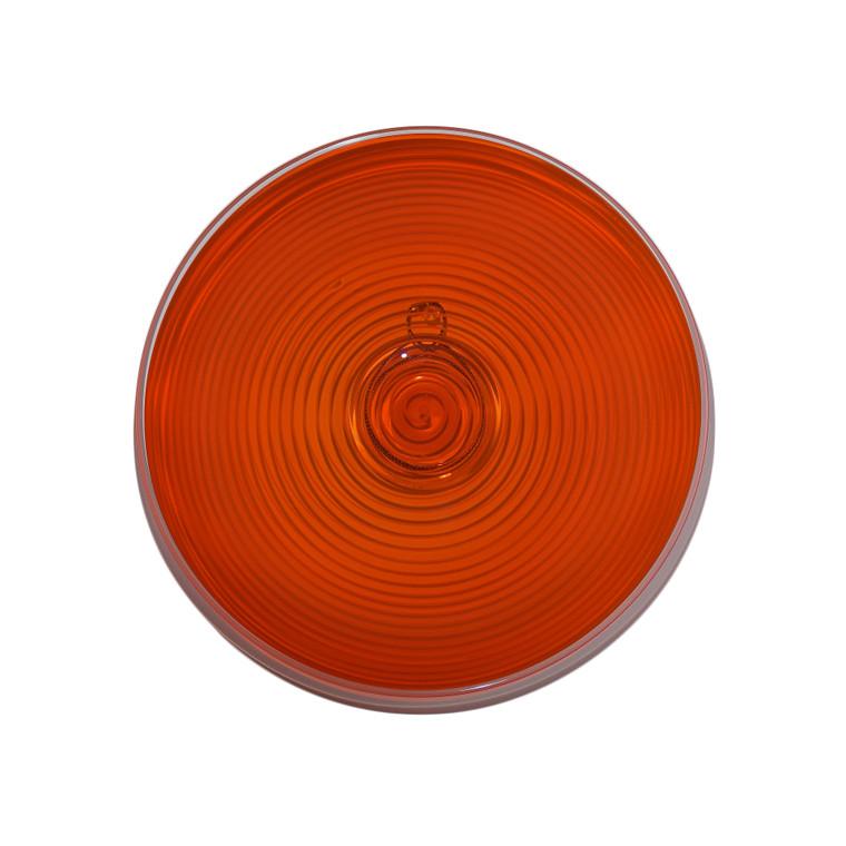 Torch Orange Spiral Rondel