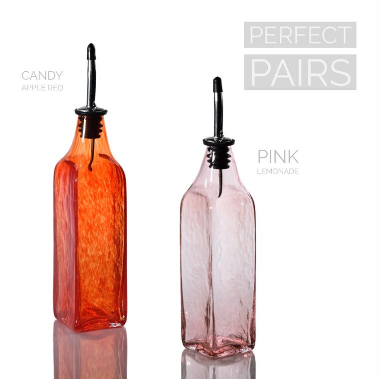 Candy Apple Red & Pink Lemonade Single-Tone Bottle Set