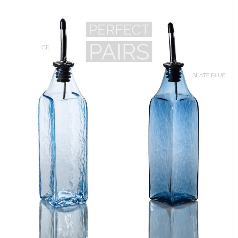 Ice & Slate Blue Single-Tone Bottle Set