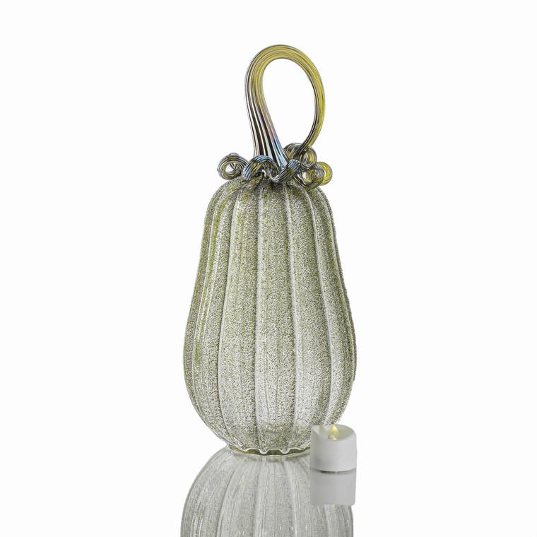 Bewitched Botanicals - Velvet Glass Gourd Pumpkin with Tealight