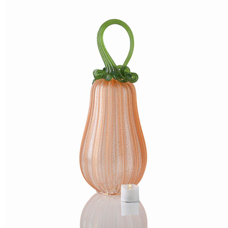 OG Pumpkin - Velvet Glass Gourd Pumpkin with Tealight