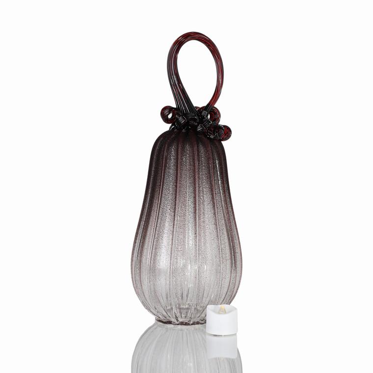 Vampire Dreams - Velvet Glass Gourd Pumpkin with Tealight