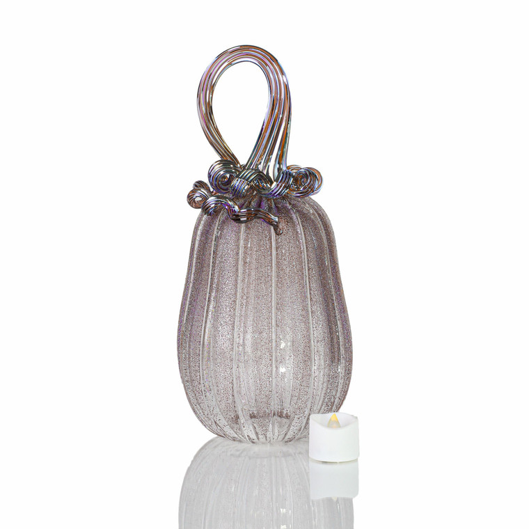 Dream Come True - Velvet Glass Gourd Pumpkin with Tealight
