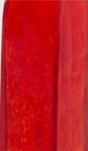 Cherry colored glass swatch