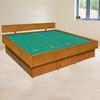 5 Board Oak Waterbed Frame