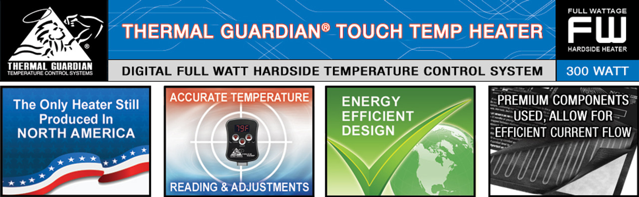 Hardside Waterbed Thermal Guardian Touch Temp Heater FREE CONDITIONER AND PATCH KIT