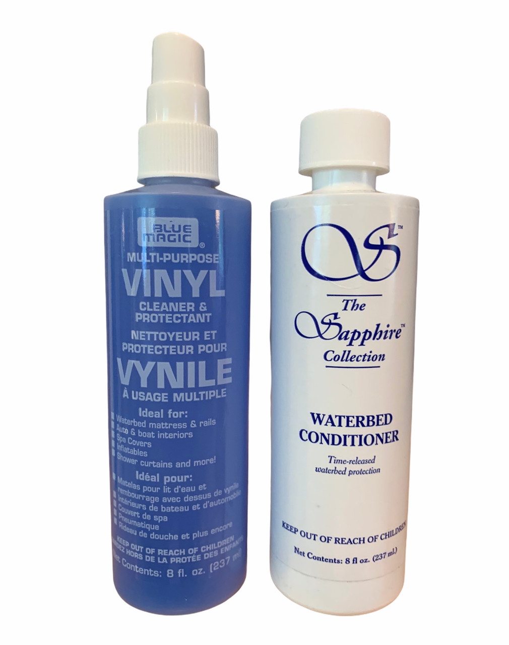 Waterbed Conditioning Solution and Vinyl Cleaner   Keep your waterbed water in excellent condition and avoid smells and foam with these chemicals