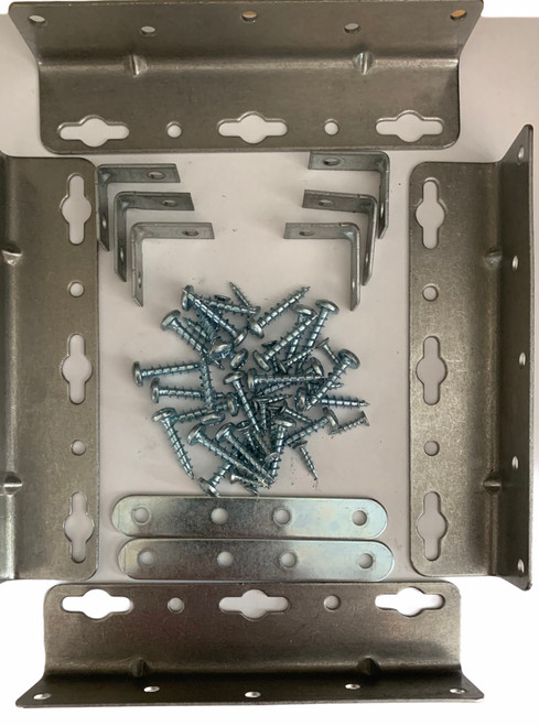 Waterbed Hardware Brackets and Screws for Cal King- Queen- Super Single Hardside Wood Frame Water Beds