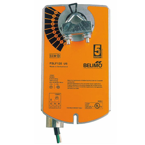 Belimo Fire&Smoke Actuator - 24 VAC, 30inlb, 1m Cable