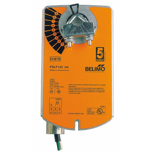 Belimo Fire&Smoke Actuator - 120 VAC, 30inlb, 1m Cable