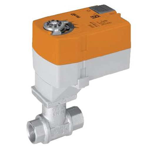 "B215+TFRB24, Belimo Valve Assembly - 2-way CCV, SS Trim, 1/2"", Cv 10 with Spring Return, 22 in-lb, On/Off, 24V"