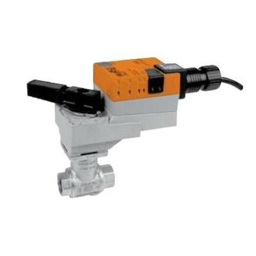 "Belimo Valve Assembly - 2-way CCV, SS Trim, 1"", Cv 19"" with Non-Spring Return, 45 in-lb, On/Off/Floating, 24V"