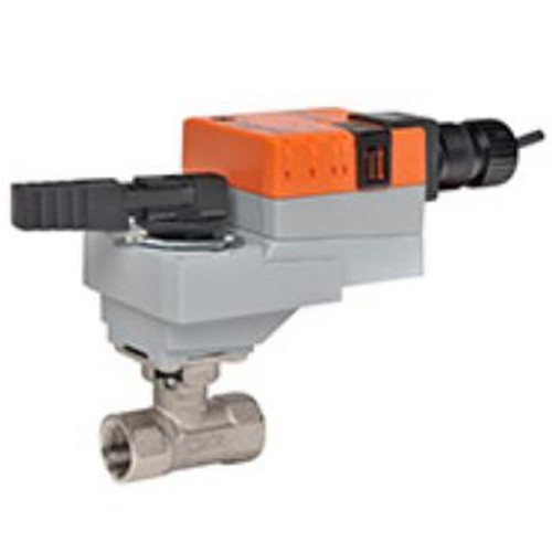 "B214+LRB120-3, Belimo Valve Assembly - 2-way CCV, SS Trim, 1/2"", Cv 7.4"" with Non-Spring Return, 45 in-lb, On/Off/Floating, 120V"