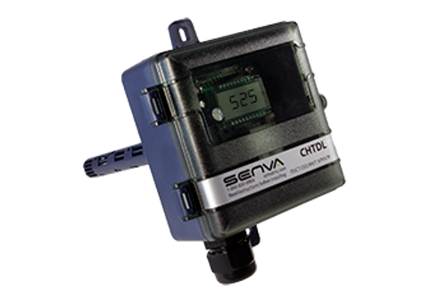 CHTDL-H, Senva DUCT CO2/RH/TEMP TRANSMITTER WITH DISPLAY AND RELAY