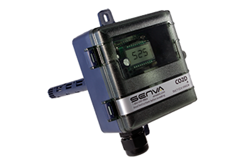 CO2D-A, Senva DUCT CO2 TRANS. W/RELAY  WITH  DISPLAY AND MENU