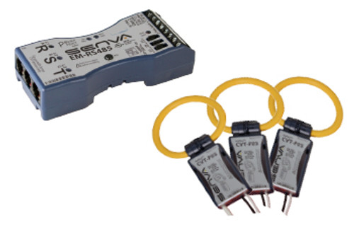 Senva Current/Voltage Transducer, CVT, ROGOWSKI, MEDIUM, 2400A, 10 FT LEADS RED, CVT-F24M-L10-C2