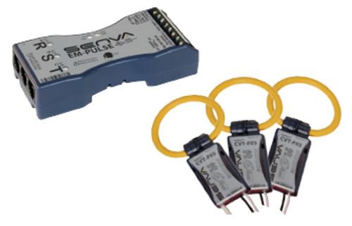 CVT-F24L-L10, Senva Current/Voltage Transducer LARGE, 2400A, 10 FT LEADS, BLACK
