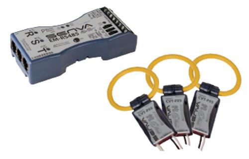 Senva Current/Voltage Transducer 2400A, 10 FT LEADS, BLACK, CVT-F24M-L10