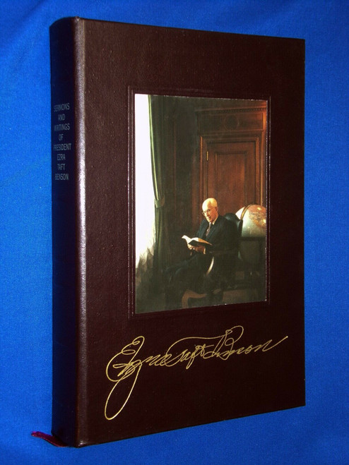 SERMONS AND WRITINGS OF PRESIDENT EZRA TAFT BENSON - Leather Gift Edition Given to LDS Church Employees.(Hardcover)
