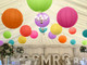 Bright Hanging Paper Lantern Pack for decorating weddings