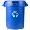 Rubbermaid Brute Container 121.1 L - Blue Recycling - FG263273BLUE