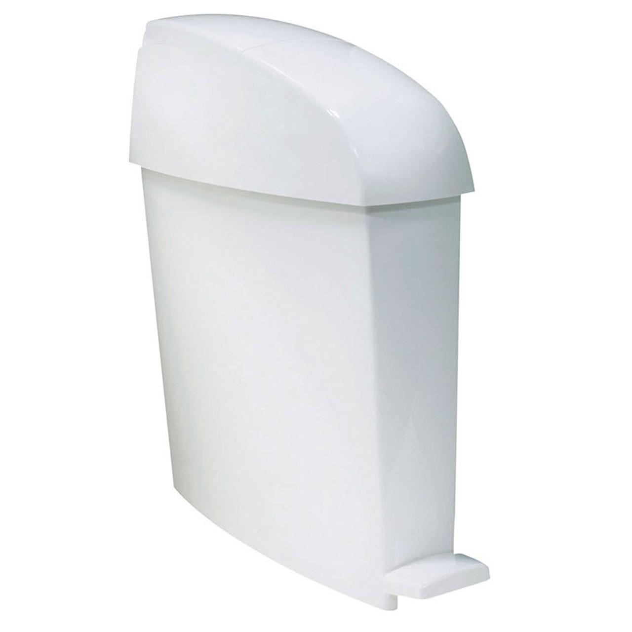 Rubbermaid San1Ped 20L Capacity Pedal-Operated Bin - White - 580X490X155mm - FG402338