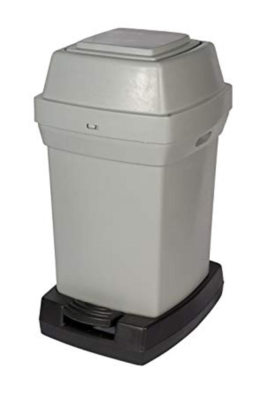 Rubbermaid Nap2 65L Capactiy Pedal-Operated Nappy Bin - Grey - 770X410X470mm