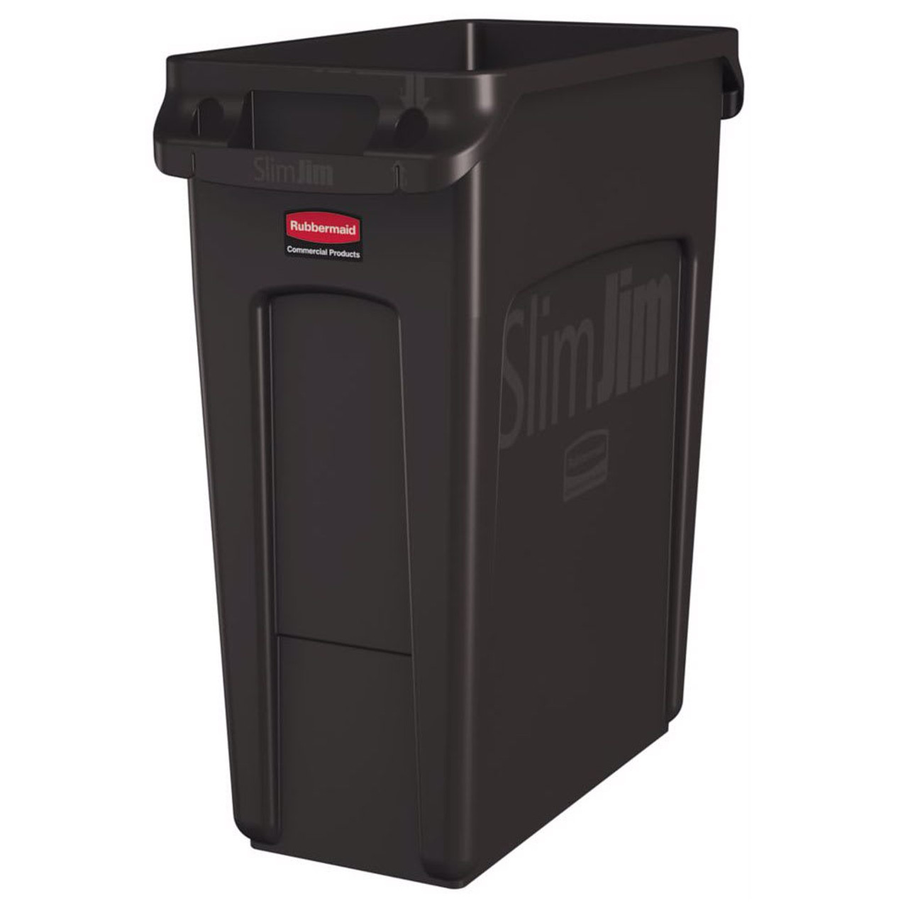 Rubbermaid Slim Jim With Venting Channels 60L - Brown - 1956181