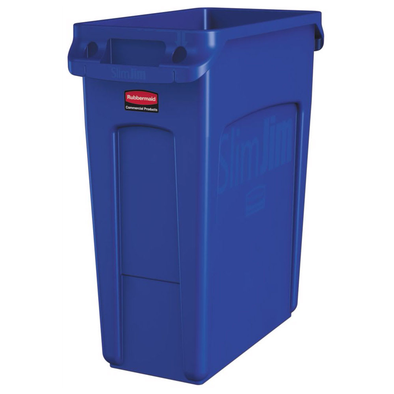 Rubbermaid Slim Jim With Venting Channels 60L - Blue