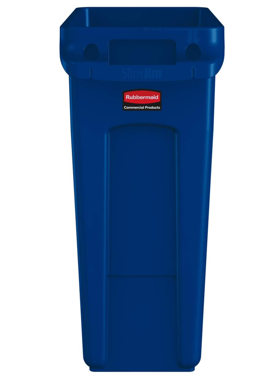 Rubbermaid Slim Jim With Venting Channels 60L - Blue - 1971257