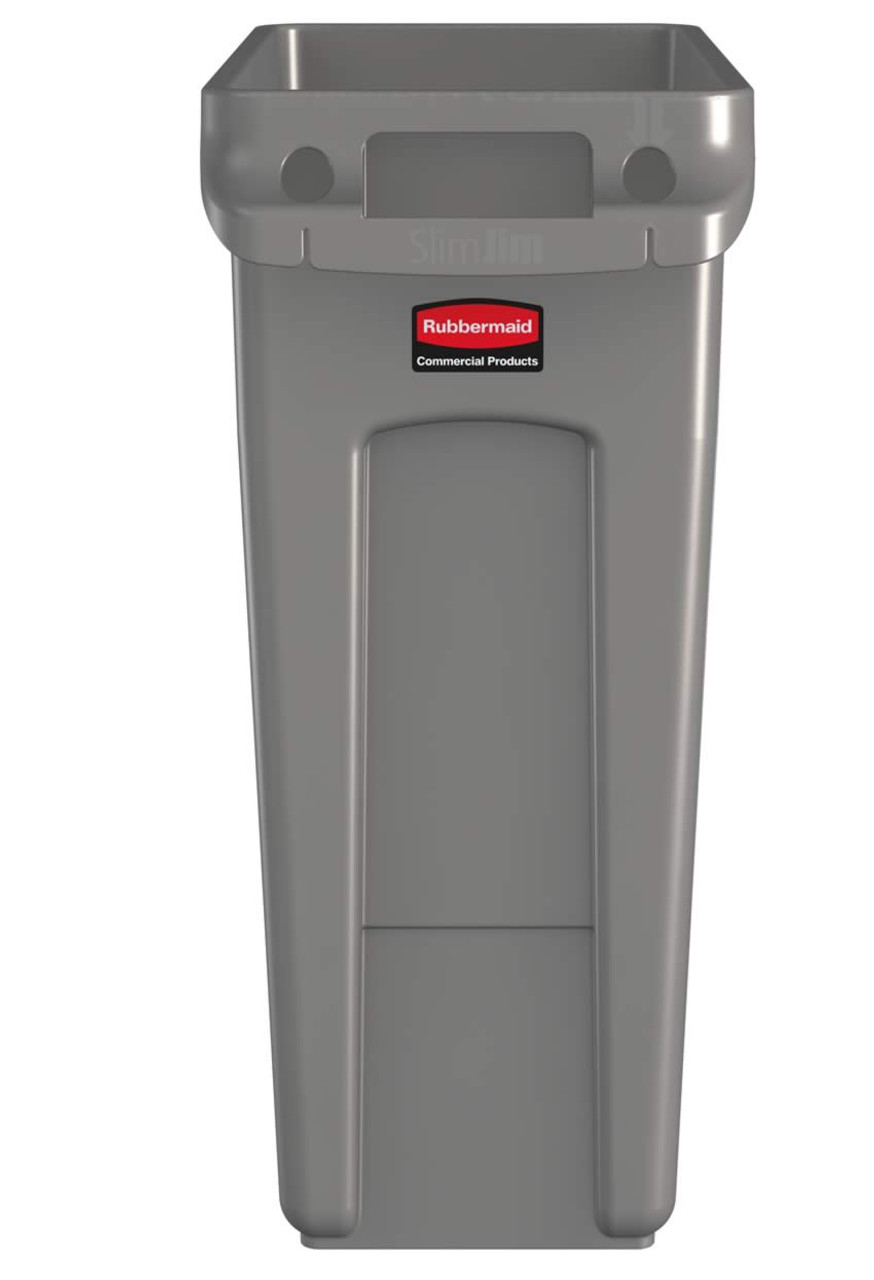 Rubbermaid Slim Jim With Venting Channels 60L - Beige - 1971259