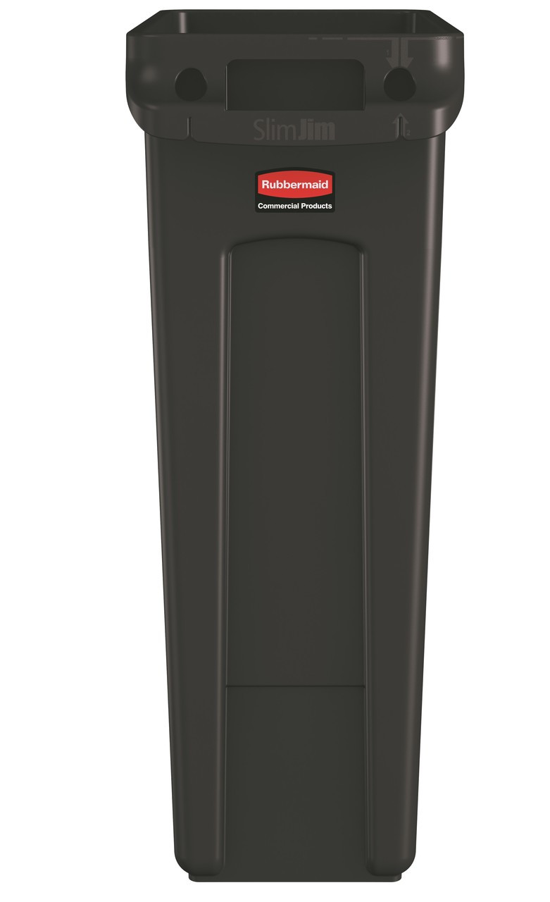 Rubbermaid Slim Jim With Venting Channels 87L - Brown - 1956187