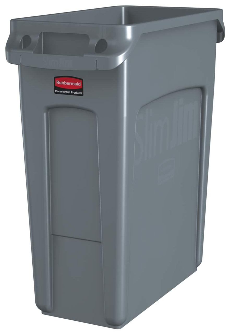 Rubbermaid Slim Jim With Venting Channels 60L - Grey - 1971258