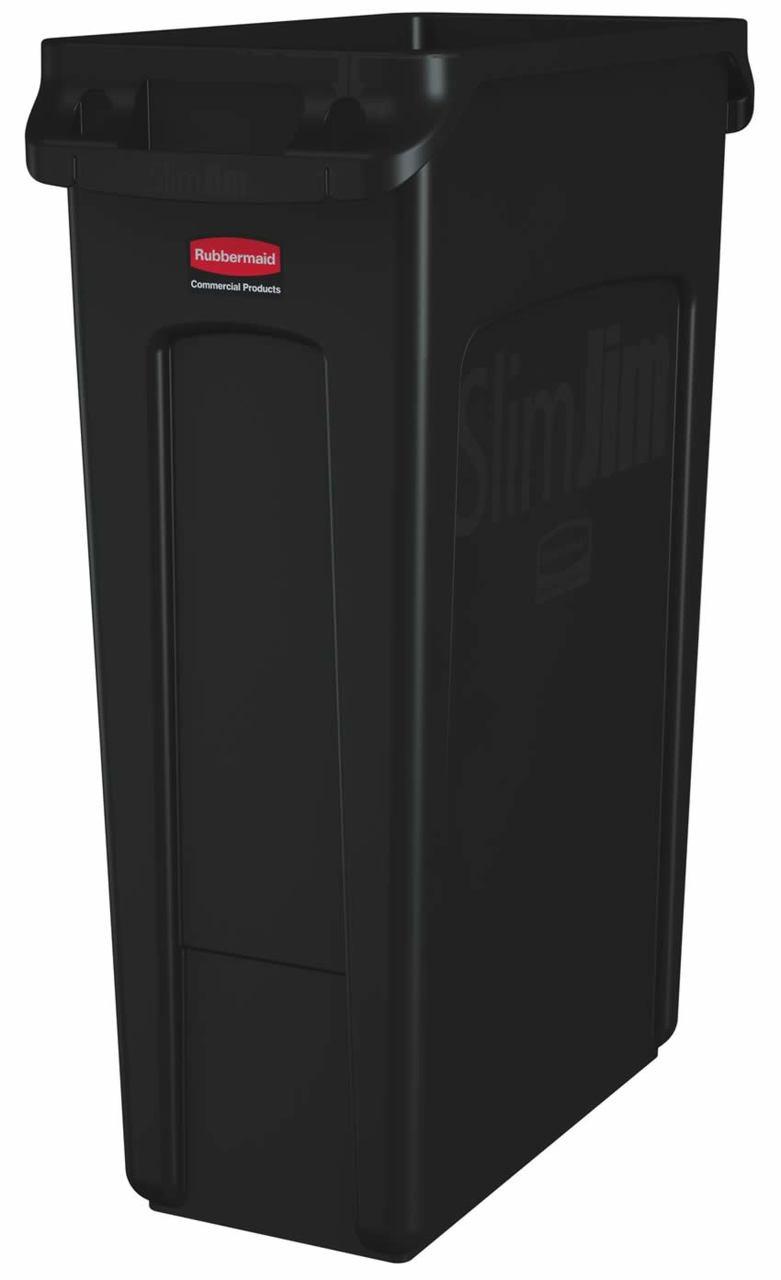 Rubbermaid Slim Jim With Venting Channels 87 L - Black - FG354060BLA