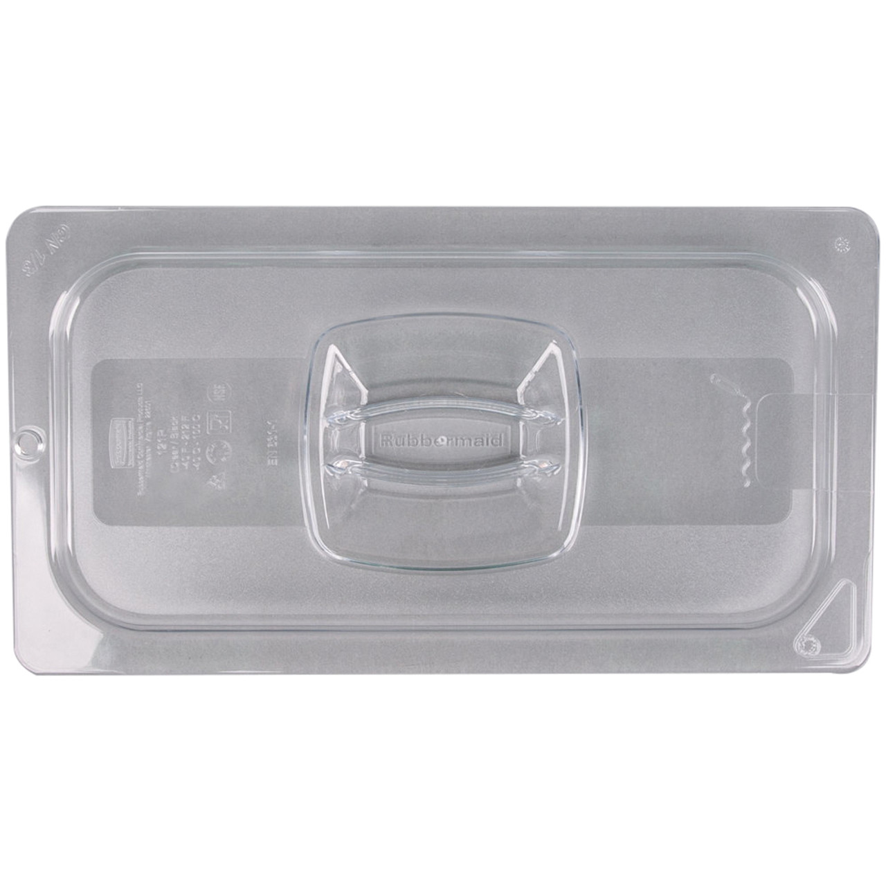 Rubbermaid Hard Cover 1/3 With Peg Hole - Clear