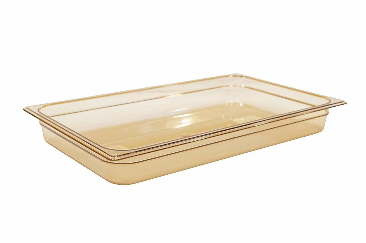 Rubbermaid Gastronorm Food Pan 1/1 65 mm - Amber - FG230P00AMBR